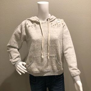 Socialite heather gray distressed hoodie Size L
